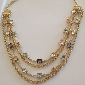 Catherine Stein Crystal Layered Necklace